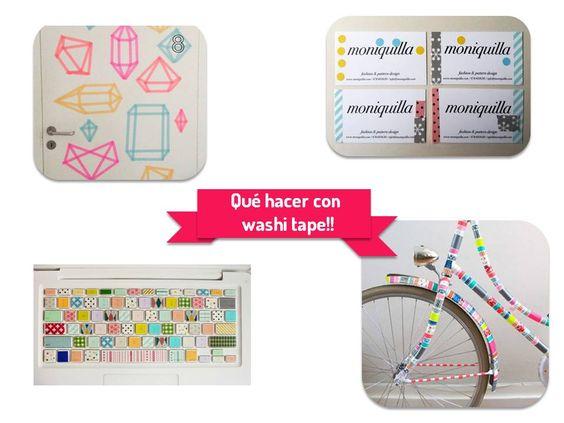 DIY- las miles de posibilidades que tienes al usar el washi tape! http://idoproyect.com/blog/que-hacer-con-washi-tape/