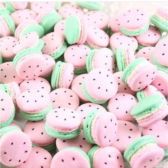 Love these darling watermelon macaroons from La Petit Macaron Perth!