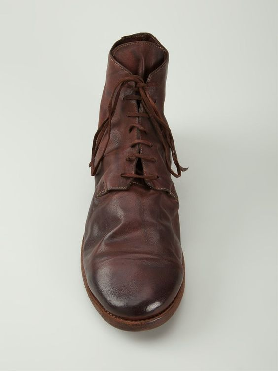 Guidi desert boots à effet usé