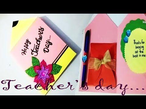 Youtube Teachers Diy Teacher Cards Happy Teachers Day Card