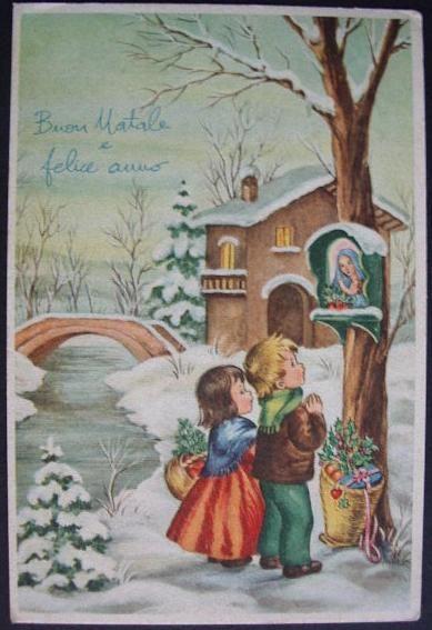vecchie cartoline di buon natale -