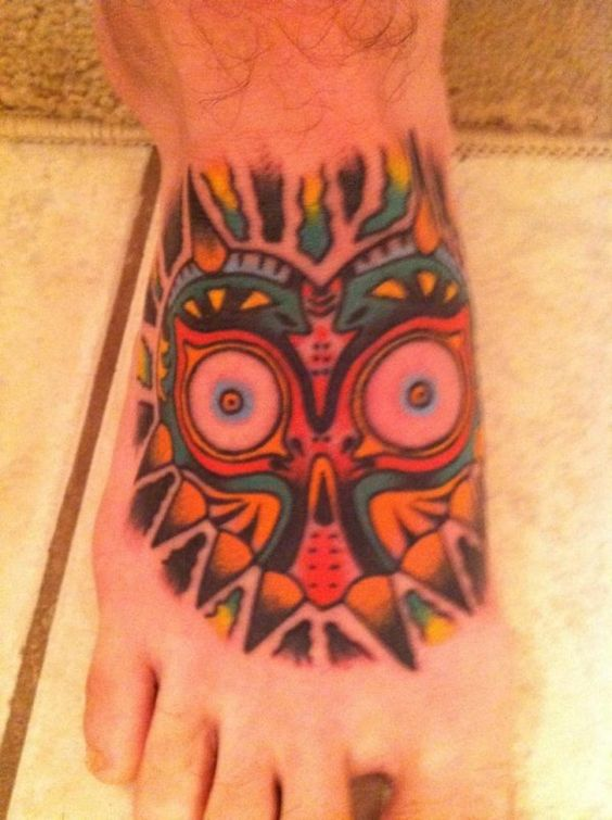 Majora's Mask Foot Tattoo
