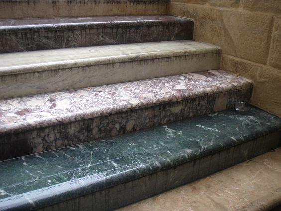 // Martin Creed marble steps