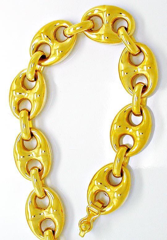 Neu!! Bohnen Kette 1A Plastisch! 18K750 Gelbgold Luxus