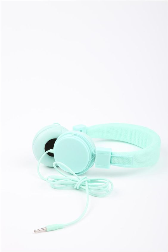 Run to the beat Headphones | Cotton On -- Love this tiffany blue color!