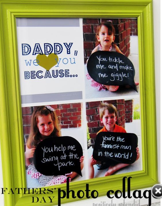 Cute Fathers Day idea. ❤
