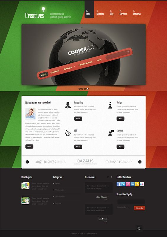 Color Design Joomla Template by Html5 Web Templates