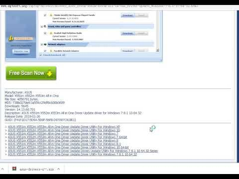 Asus X551m X552m X553m All In One Driver Update Driver Utility For