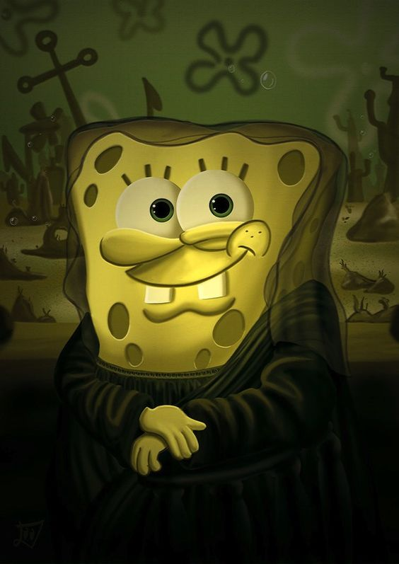 SpongeBob and co. as famous paintings
