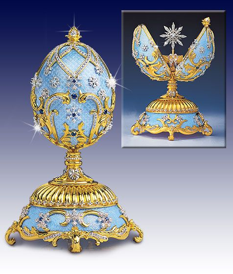 FORGET ME NOT BLUE DECORATED EGG, for the Russian Imperial Court by fabergé