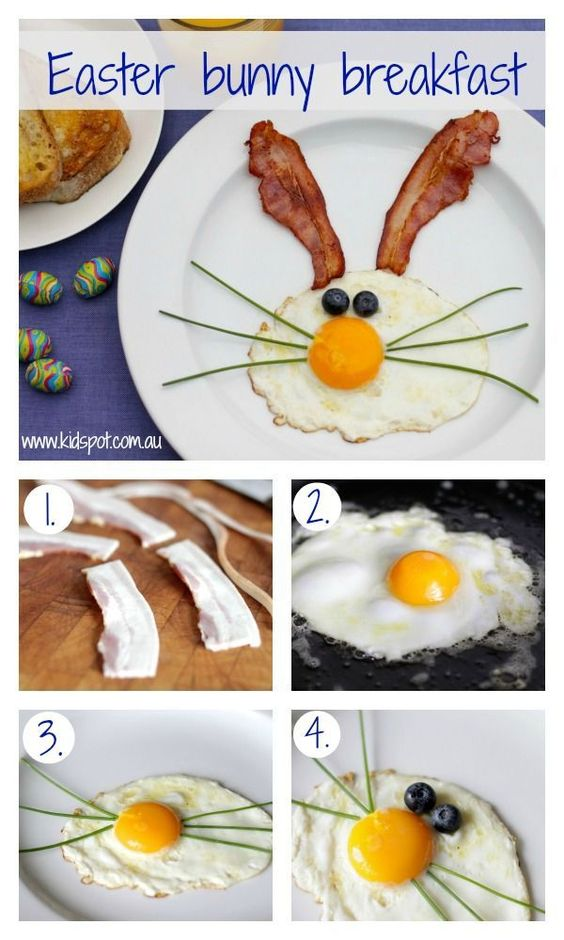 Create a FUN breakfast for the kids during Easter, Very easy to make & will surely put a smile on the little ones faces.: