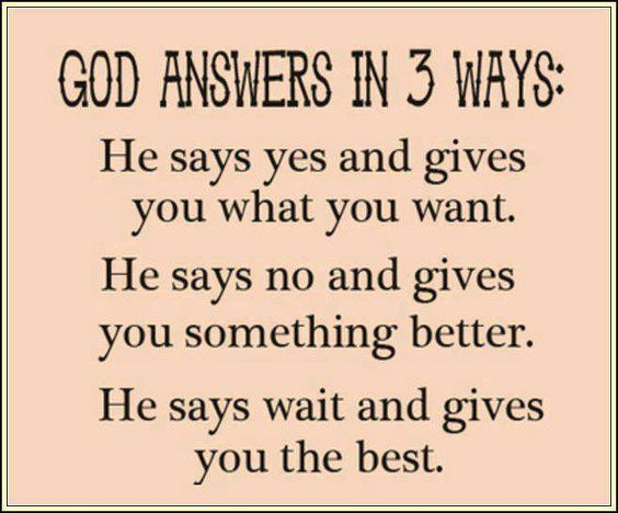 ....God answer's