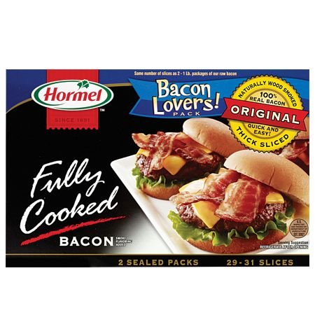 What's better than the flavor and convenience of HORMEL<sup>®</sup> Fully Cooked Bacon? More of it! Ready in minutes, it's perfect for mess-free breakfasts and busy weeknight dinners.