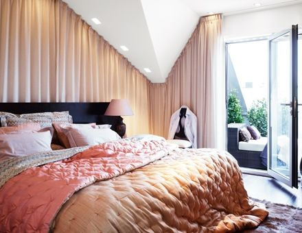 Gardiner gardiner snedtak : Gardin vid snedtak. Inspiration sovrummet. Rama in med eftertryck ...