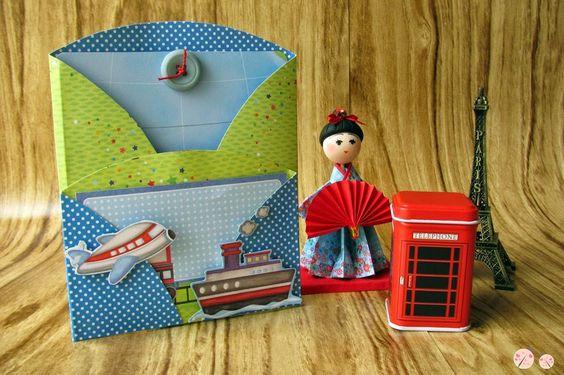 Clube da Joaninha: PAP - Cartão Círculo com dois bolsos