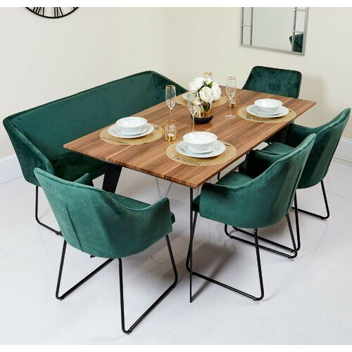 Canora Grey Jordan Dining Set With 4 Chairs And One Bench In 2020