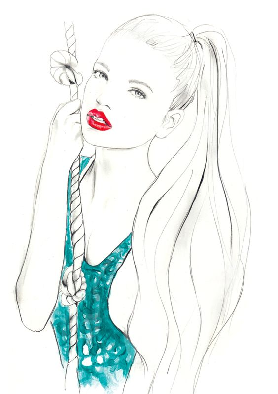 just finished a new illo for today of the lovely daphne groeneveld… now - to finish some commissions this is available as a print here www.sarahhankinson.bigcartel.com/product/daphne-giclee-print: