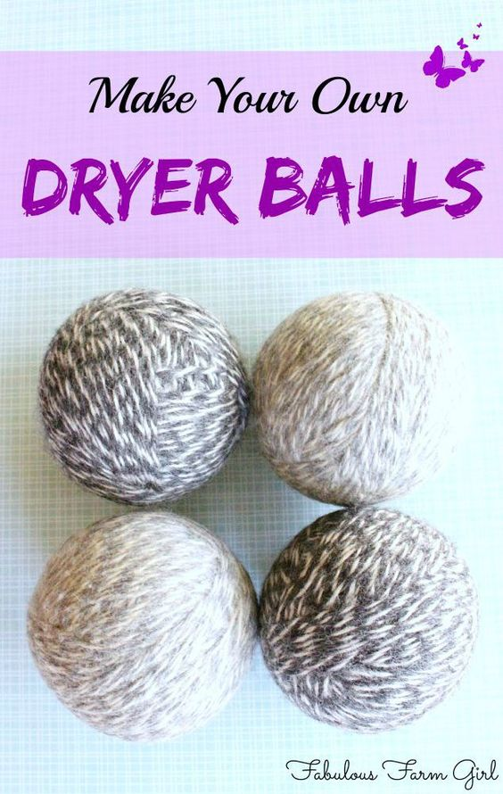 Knitting Pattern For Wool Dryer Balls : How To Make Wool Dryer Balls Wool dryer balls, Wool and Wool yarn