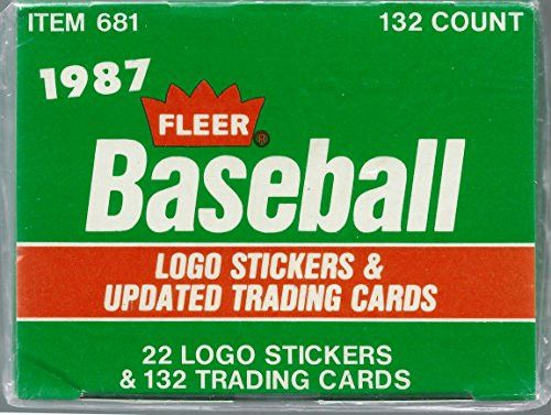 1987 Fleer Update Set Baseball Card (132 Cards + Stickers)