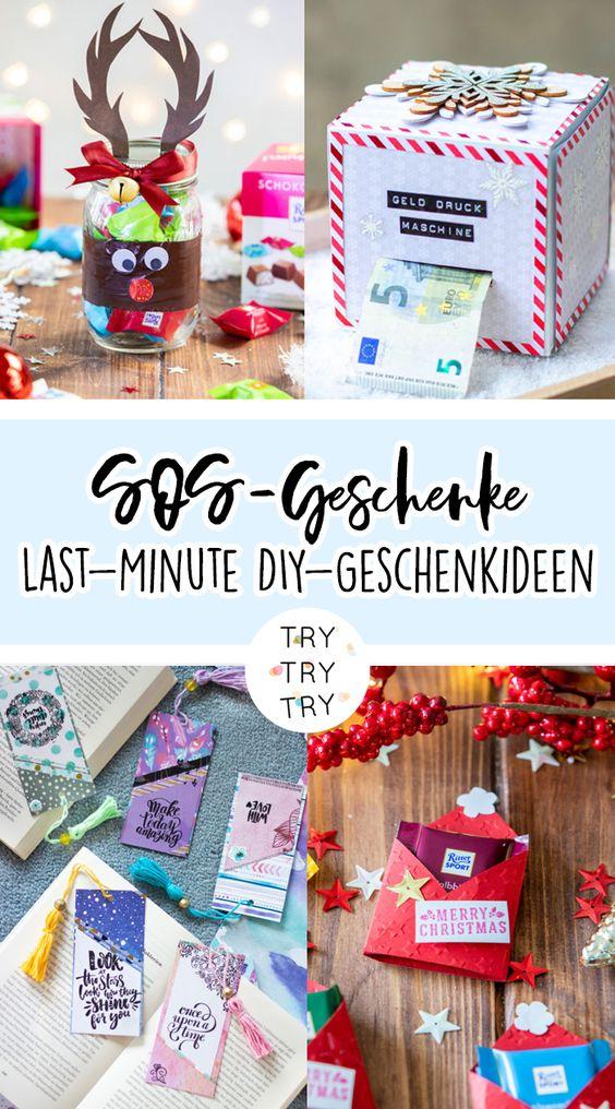 SOS-Geschenke: Last-Minute DIY-Geschenkideen für Weihnachten