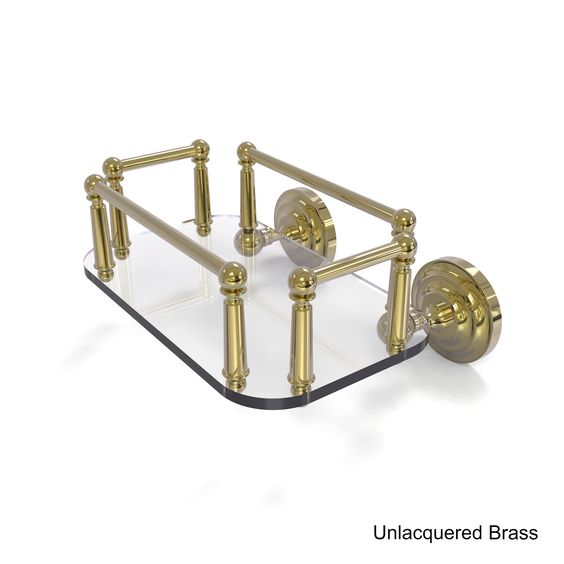 Allied Brass Que New Collection Wall Mounted Glass Guest Towel Tray (