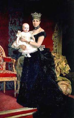 Alfonso XIII y la Reina Regente, Serafín Martínez del Rincón y Trives
