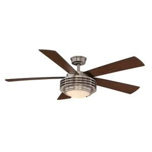 Love this, but not the right color metal. Hampton Bay Mondrian 52 in. Brushed Nickel Ceiling Fan-AL749-BN at The Home Depot. $149.