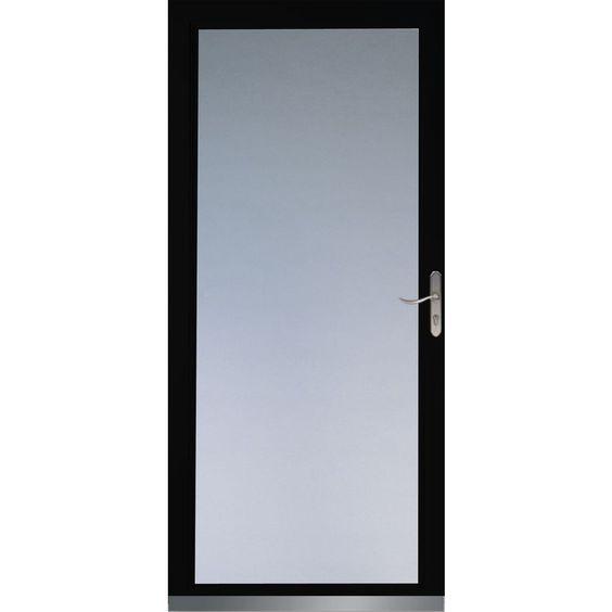 Low E Low E Glass Storm Door