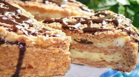 Пирог с творогом и черносливом. ►►►►►Совершенно простой в приготовлении и божественно вкусный пирог! Приготовьте и наслаждайтесь!!!