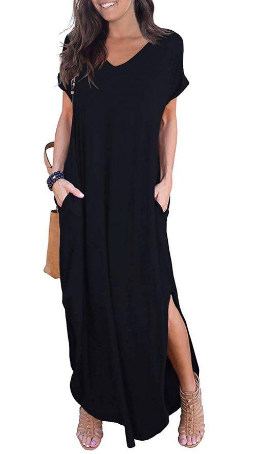 Maxi dresses casual, Split maxi dress