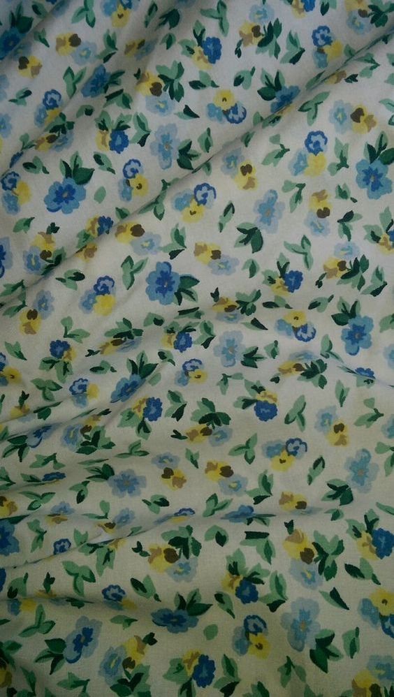 Laura Ashley Polyanthus Full Bedskirt Dust Ruffle White Blue Yellow Floral #LauraAshley #Cottage