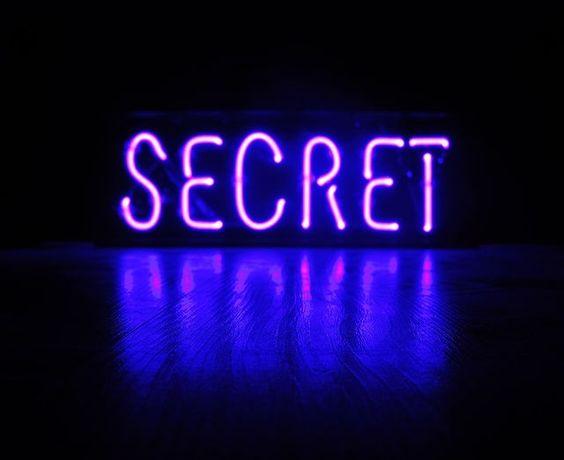 'SECRET' NEON SIGN                                                                                                                                                                                                                  ๑෴MustBaSign෴๑