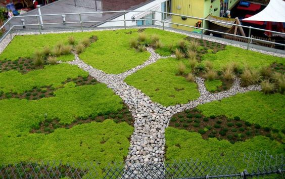 A seriously cool tree design for a rooftop garden