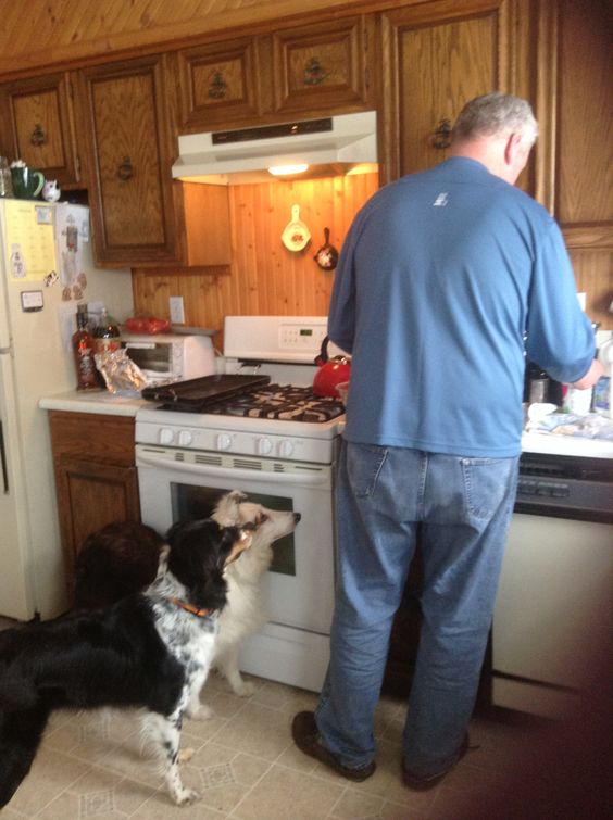 Dad's cooking