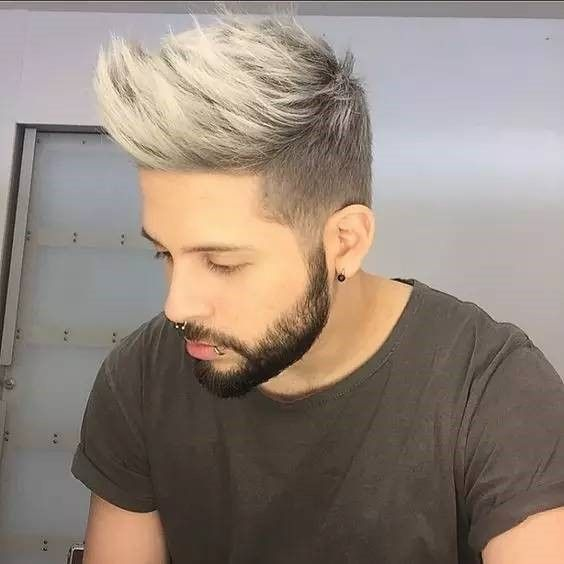 6 Startling Hair Color Ideas For Men To Rock The Party White