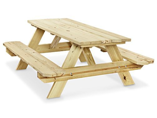 Deluxe A Frame Wooden Picnic Table 8 H 6577 Uline 349 With