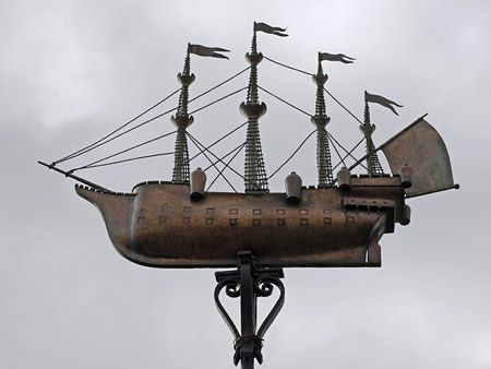 Weather-vane of the 'Henri Grace a Dieu'