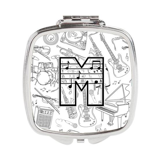 Letter M Musical Note Letters Compact Mirror CJ2007-MSCM