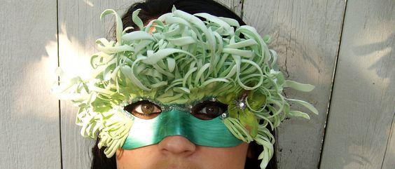 Sea and Sky Fairy Ball Masquerade Mask. $25.00, via Etsy.