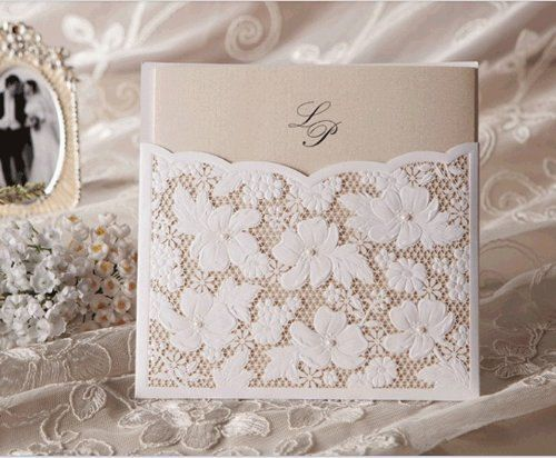 Custom Printable Elegant Floral Lace Cut by idoidoforeverlove, $109.00