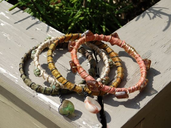 fall autumn bangles bracelets accessories by madhattresscreations, $26.99
