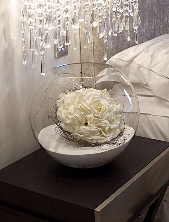 decorating with flowers in  glass bowls | all arrangements grasses & greenery stems artificial fruit decorative ...