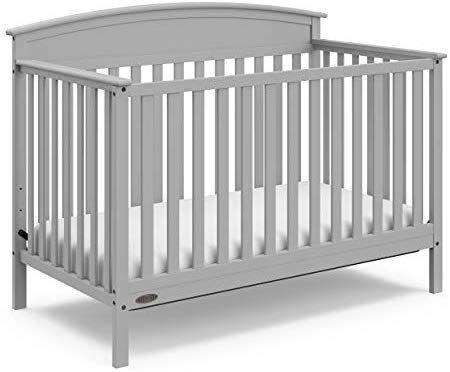 Graco Benton 4 In 1 Convertible Crib Pebble Gray Easily Converts To Toddler Bed Daybed Or Full Size Bed Wit Full Size Bed Headboard Convertible Crib Cribs