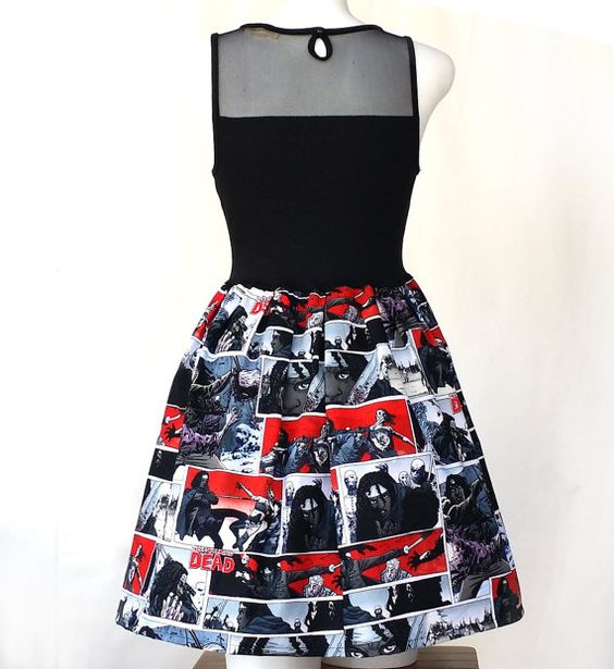 Women Dress Walking Dead Dress Michonne Walking by UnpluggedStudio