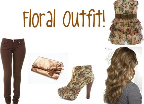 """Floral Outfit"" by love-lauren-rae143 on Polyvore"