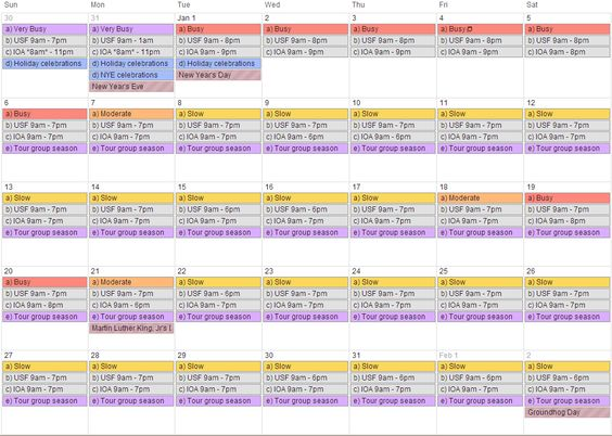 the best time to go to universal studios orlando fl wow amazing calendar that tells you when