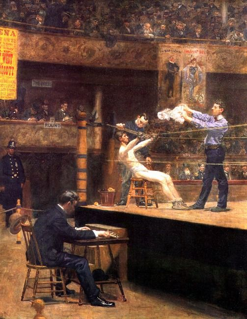 Between Rounds by Thomas Eakins Pinned by Brian Terry, Artwork of Men