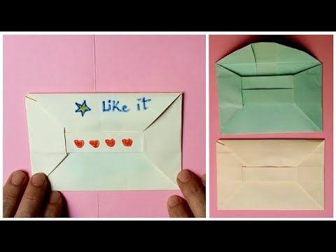 اعمال يدوية بالورق كيف تصنع ظرف رسائل بالورق Make Paper Envelope Paper Envelopes How To Make Paper Paper