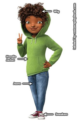 Curly Hair Costume Ideas : Dress up as gratuity tip tucci costume from dreamworks