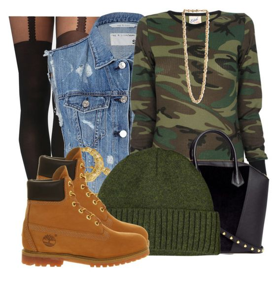 """""""Camoflaging Into Fall"""" by nenedopesauce ❤ liked on Polyvore featuring moda, Gipsy, rag & bone, Edith A. Miller, Forever 21, H&M, Gogo Philip, Patagonia e Timberland"""